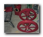 Flywheels, crankshaft and Cylinder/Hopper